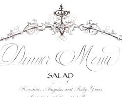 Dinner Menu Detail